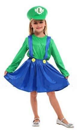 Krazy Toys Disfraz Luigi Niña (3-5 años): Amazon.es: Juguetes y juegos