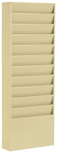 Durham Displays2go Office Wall Folder Rack, 11-Pocket, Me...