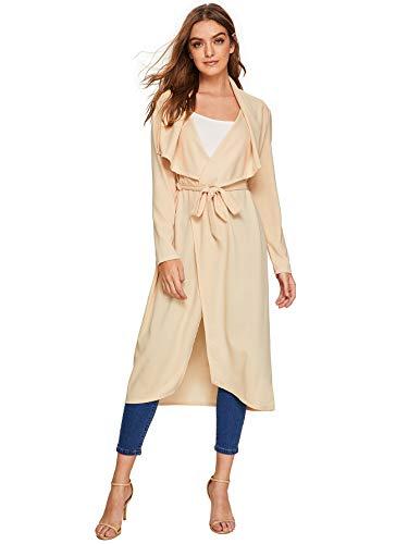 Kerrian Online Fashions 310KLwnO4bL Verdusa Women's Casual Long Sleeve Lapel Outwear Duster Coat Cardigan