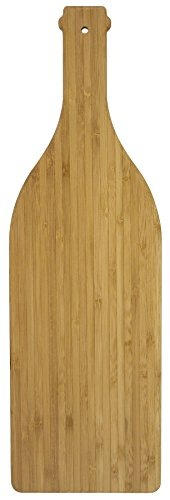Totally Bamboo Vino Serving Board, 100% Bamboo Board In Shape of Wine Bottle for Serving and Minor Food Prep, 16.75