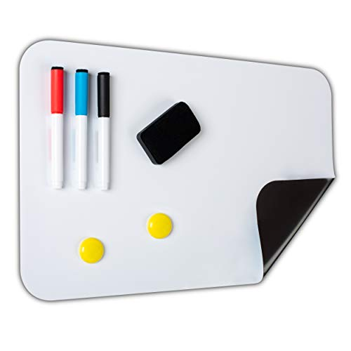 (Sale   Refrigerator Whiteboard Magnetic   3 Dry Erase Fine Tip Markers   Large Eraser   Kitchen Organizer, Calendar, Fridge Accessories, Chore Charts, Monthly Planner   17