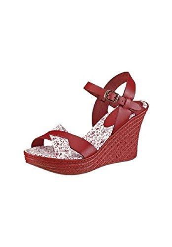 Rouge Femme Unbekannt Sandales Sandalette Pour wIw1fq