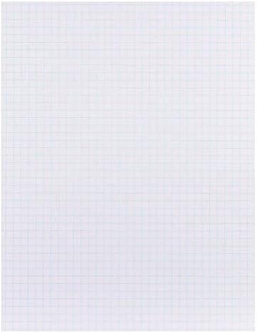 1InTheOffice Graph Pads, 21,6 x 27,9 cm, Weiß, 50 Blatt, 6 Blöcke