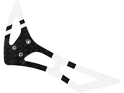 (Rakon CNC 3K Pure Carbon Fiber Tail Vertical Fin Set (Black-White) - Blade)