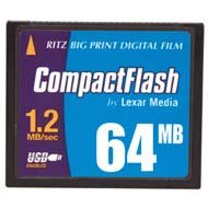 (Ritz Big Print Digital Film by Lexar Media - Flash memory card - 64 MB - CF )