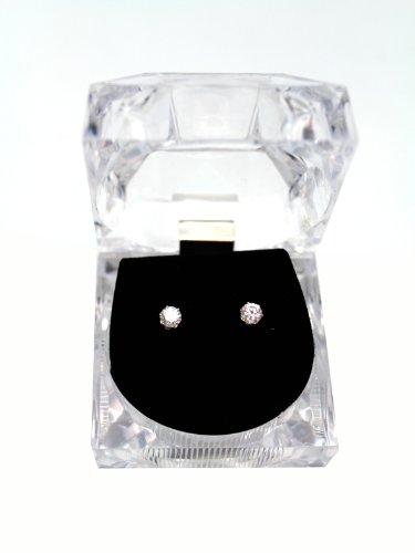 PMI Circular Cut Rhinestone Stud Earring