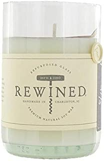 product image for Rewined Rose Fragrance Soy Wax Scented Candle with Notes of Rose Petal, White Peach, Pink Peppercorn and Crisp Minerality