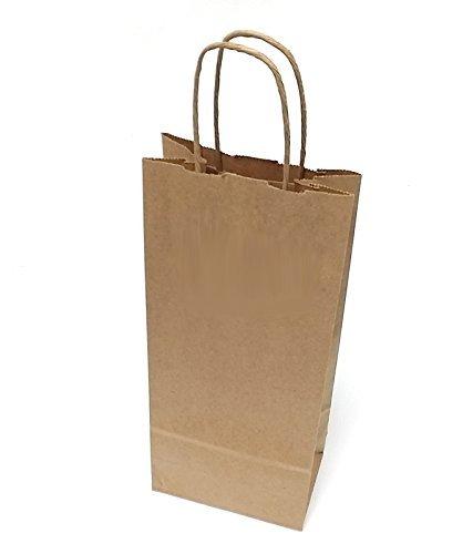 ([ Total 50 ct ] Natural Kraft Paper Wine Bags 5