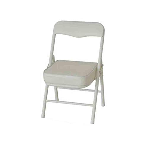 YCSD Children'Folding Small Chair Stool, Portable Backrest Chair,Stackable Faux Leather Padded Dining Seat,Small Bench (Color : White)