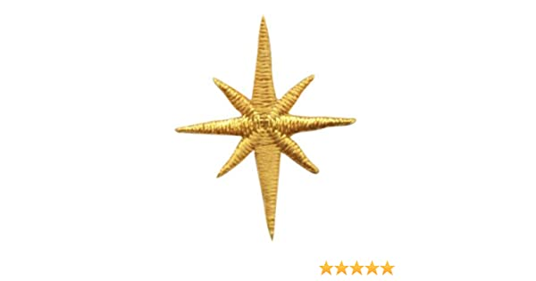 Large Yellow Nativity Star Christmas Iron on Applique//Embroidered Patch