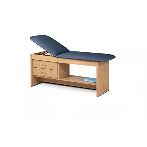 - 30 Treatment Table NAT Wood Laminate Drwrs Silver Pull-Royal Blue