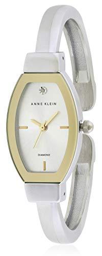 Anne Klein Silver Dial Stainless Steel Bangle Ladies Watch AK2553SVTT