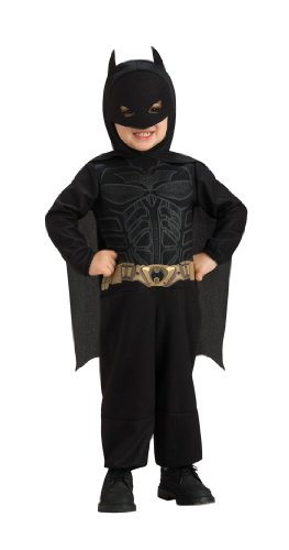 [Batman The Dark Knight Jumpsuit Costume, Batman Print, 1-2 Years] (Super Easy Group Costumes)