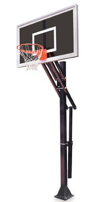 最初チームSlam eclipse-bp steel-smokedガラスin ground調整可能バスケットボールsystem44、グレー B01HC0CKH6