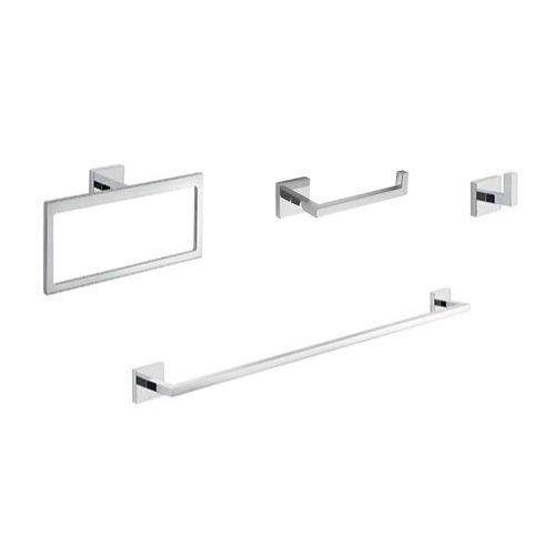 Gedy ELBA1200 Elba Modern Bathroom Accessories Set, Chrome