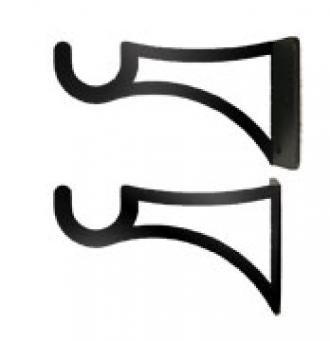 Village Wrought Iron Curtain Brackets for 3/4 Inch Rods