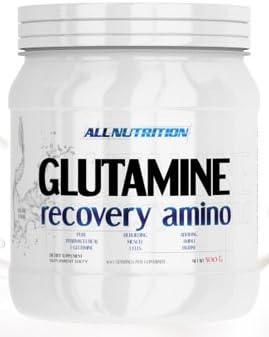 ALLNUTRITION Glutamine Recovery Amino Muskelaufbau Regeneration Reines L-Glutamin Bodybuilding 250g (Orange)