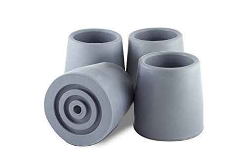 Essential Medical Supply Replacement Walker/Commode Tips, Gray, 1 1/8""