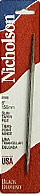 Slim Nicholson Taper - Nicholson 21866N 6-Inch Slim Taper File without handle