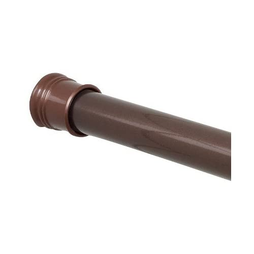 cheap Adjustable Tension Mount Shower Curtain Rod Straight, Oil Rubbed Bronze