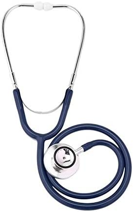 GFPT De Doble Cara de Mama Estetoscopio de aleación de Aluminio Protector de Cuidado de la Salud Solo Tubo Doctor Enfermera Profesional médico Cardiología Estetoscopio (Color : Azul)