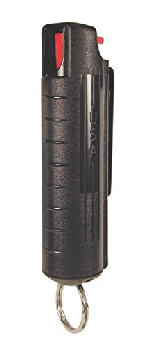 PS Products Eliminator 3/4 oz. Pepper Spray with Hardcase & Keyring, Black - Eliminator Pepper Spray