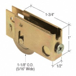 - CRL Sliding Glass Door Roller with 1-1/8