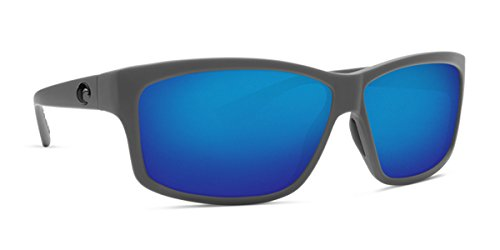 Costa Unisex Cut Matte Gray/Blue Mirror 580p One - 580g Costa Cut