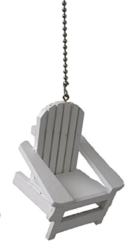 Adirondack chair ceiling fan pull ornament beachfront decor - Beach themed ceiling fan ...