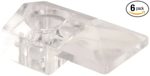 Prime-Line Products U 9278 Mirror Clip with Screw and Anchor, Modern,(Pack of 6)