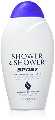 SHOWER TO SHOWER Body Powder Sport 8 oz (Pack of 3)