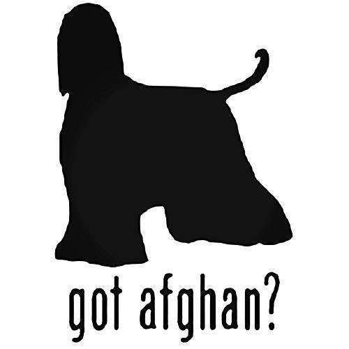 YWS Vinyl Sticker Decal - Got Afghan Hound Dog 1 - Sticker Laptop Car Truck Window Bumper Notebook Vinyl Decal