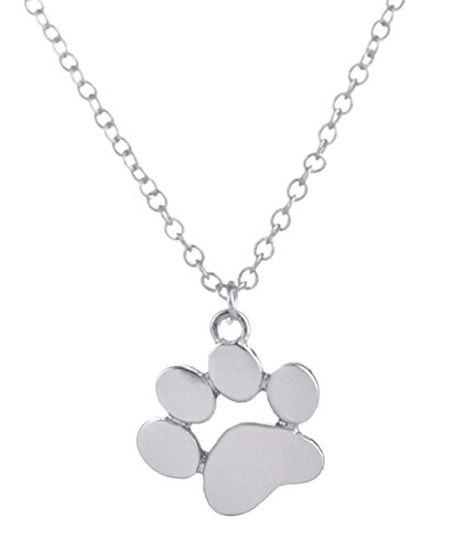 StylesILove Cute Puppy Dog Footprints Chain Pendant Girls Fashion Necklace - Silver