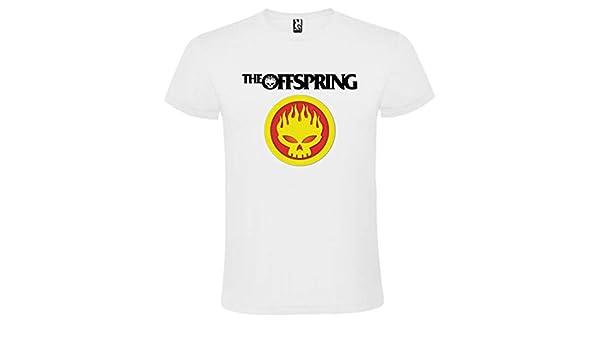 Camiseta Blanca The Offspring Logo Hombre Tallas S M L XL XXL XXXL 100% ALGODÓN Mangas Cortas (XXL): Amazon.es: Ropa y accesorios