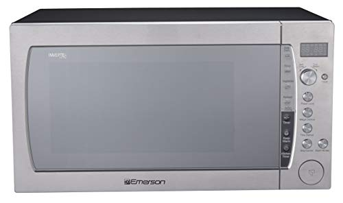 Emerson ER105006 2.2 Cu Ft 1200 W Counter top Microwave Oven with Inverter Technology & Sensor Cooking, Silver
