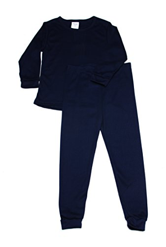 - Boys Thermal Long Underwear Set (4T, Navy Blue)