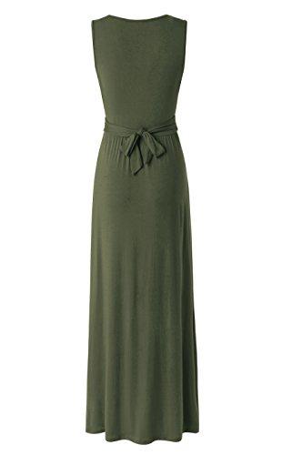 86fe49696ac Zattcas Womens Contrast Sleeveless Empire Chevron Striped Maxi Long Dress  at Amazon Women s Clothing store