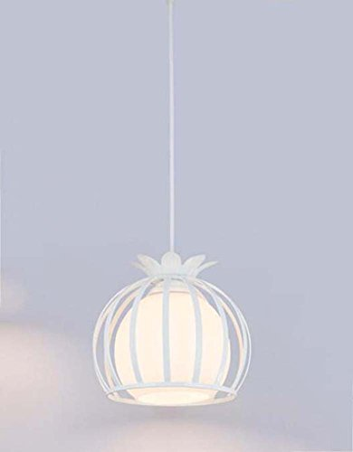 Onfly Wrought Iron Hollow Pendant Lamp Petal Round Chandelier Creative Single Head Restaurant/living Room/clothing Store Hanging Lamp Indoor Deco Lights(without Bulb) (Color : White) - Round Crystal Disc