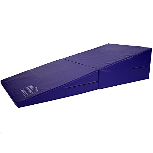 Commercial Bargains Purple Folding Incline Gymnastics Mat Training Foam Triangle Tumbling Wedge 146