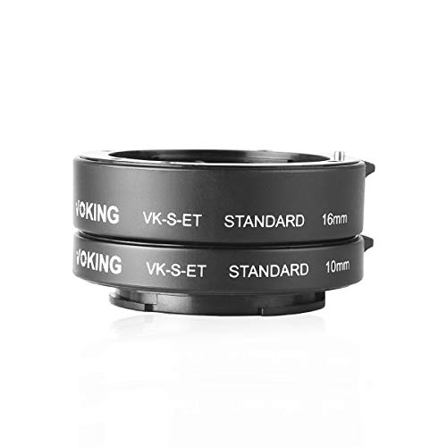 Voking VK-S-ET 10mm+16mm Auto Focus Full Frame Macro Extension Tube Adapter Ring Kit for Sony Mirrorless E-Mount FE-Mount NEX Camera A7 A9 A7III A7M2 NEX3 NEX5 NEX6 NEX7 ...