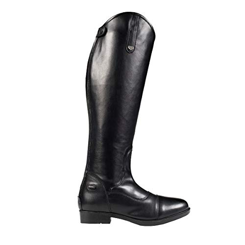 HORZE 7.5 Regular Rover Dressage Synthetic Leather Leg Comfort Tall Boots Black