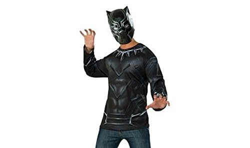 Mens BLACK PANTHER Captain America Civil War Halloween Costume Medium 44