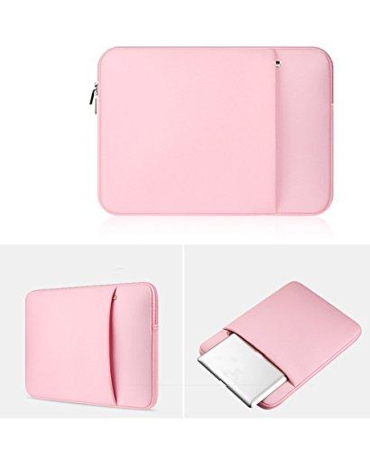 YiJee Fundas para Portatil Funda Blanda Bolso Sleeve para Ordenador Portátil 14 Pulgada Pink 1