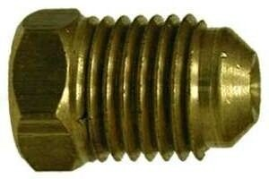 Midland Metal 10064 Brass 1/4 Flare Plug (Pack Of 10) ()