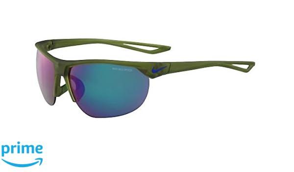 31e4c47e811 Amazon.com   Nike EV1012-300 Cross Trainer R Sunglasses (Frame Grey with  Standard Green Flash Lens)