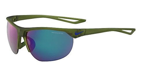 Nike EV1012-300 Cross Trainer R Sunglasses (Frame Grey with Standard Green Flash Lens), Matte Palm Green ()