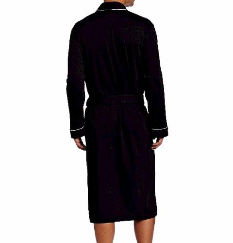HUGO BOSS Men's Kimono Robe, Black, Large