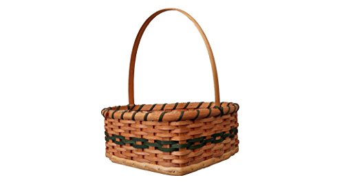Amish Made Hand Woven Basket Heart Shaped Storage Basket For Picnic, Beach Bag or Home Décor Top Quality Decorative Storage Organizer