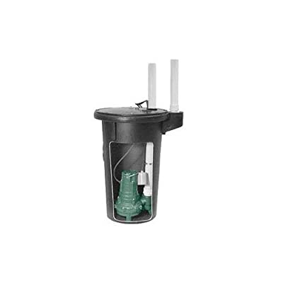 Zoeller M264 Sewage Pump and Basin System