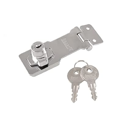 Home Mailboxes Door Chrome Plated Key Locking Hasp 77mm Length
